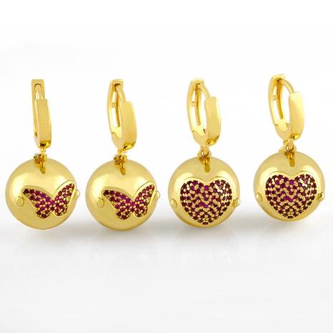 arete retro redondo con cuentas de oro NHAS320780's discount tags