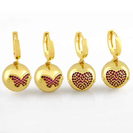 retro round gold bead earring NHAS320780's discount tags