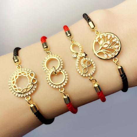 pulsera de diamantes de hilo rojo árbol de la vida NHAS320783's discount tags