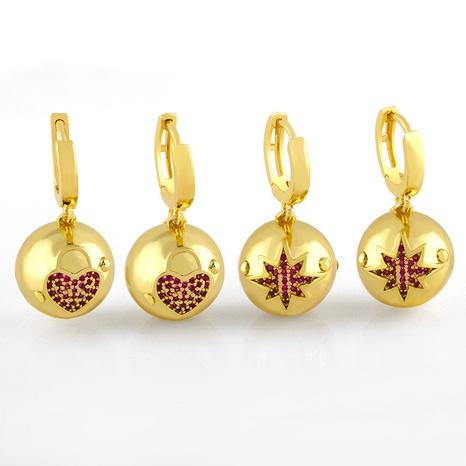 simple ball diamond earrings NHAS320784's discount tags