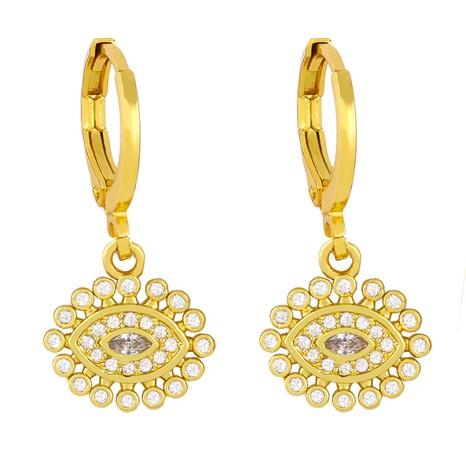 Korean fashion full diamond earrings NHAS320787's discount tags