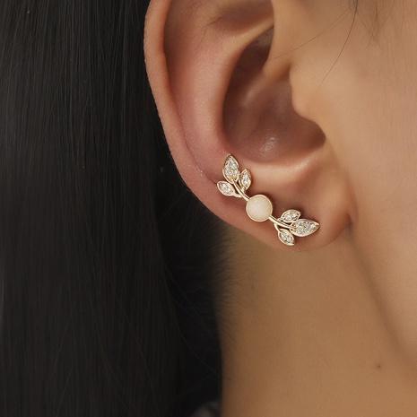 Korea fashion simple leaf ear clip NHDP320797's discount tags
