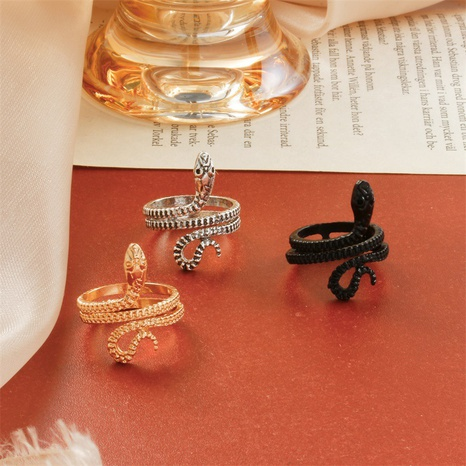 anillo de serpiente sinuoso simple retro NHDP320801's discount tags