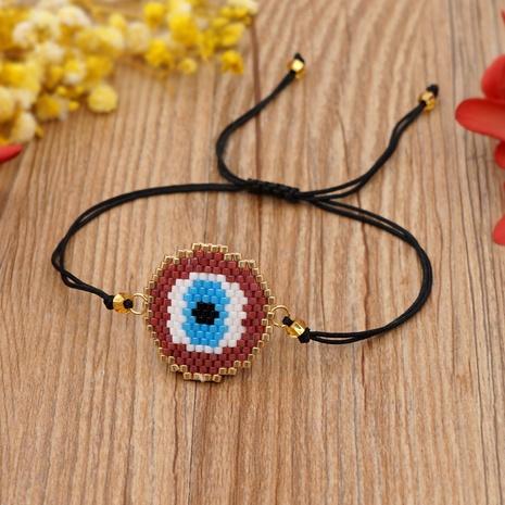 Pulsera de ojo de estilo étnico con cuentas de Miyuki hecha a mano NHGW320811's discount tags