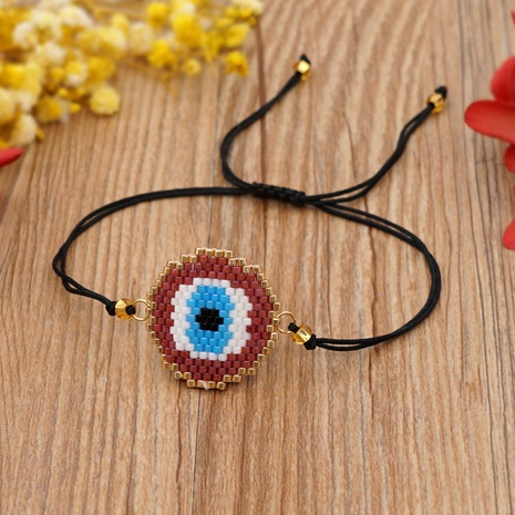 Miyuki beads hand-made ethnic style eye bracelet  NHGW320811's discount tags