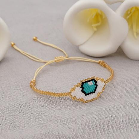 Bracelet yeux fait main perles Miyuki NHGW320816's discount tags