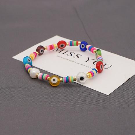 pulsera de perlas de ojo de cerámica suave estilo bohemio NHGW320817's discount tags