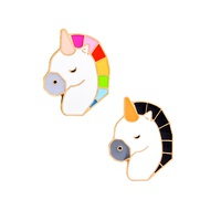 creative cartoon cute colorful unicorn brooch NHMO320894
