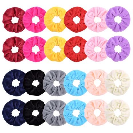 new fashion crystal velvet plain hair scrunchies set NHMO320914's discount tags