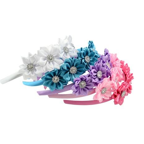 nouvel ensemble de bandeaux de fleurs faits main sertis de diamants NHMO320919's discount tags