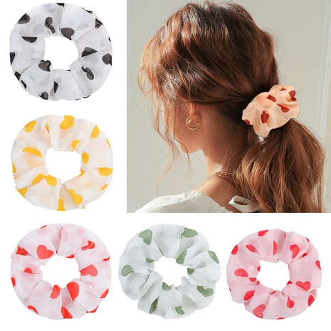 fashion simple Love Floral hair scrunchies set NHMO320928's discount tags