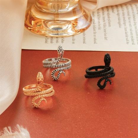 nuevo anillo de serpiente con apertura retro NHMO320942's discount tags
