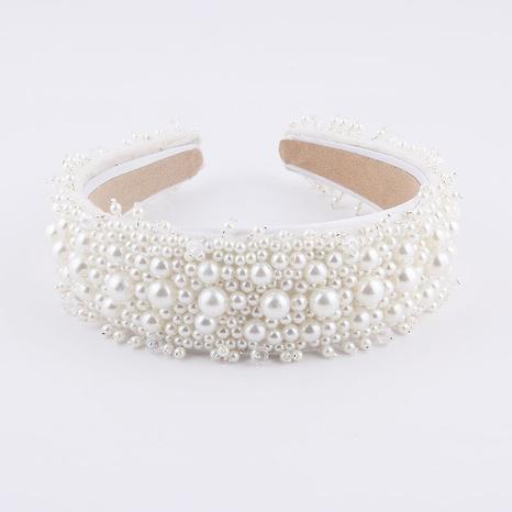 Mode Perlenpartikel gesäumt Braut Stirnband NHWJ320950's discount tags