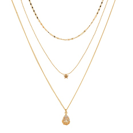 exquisite star zircon multilayer necklace  NHAN320966's discount tags