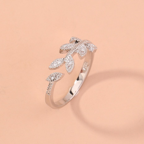 new fashion leaf ring NHAN320986's discount tags