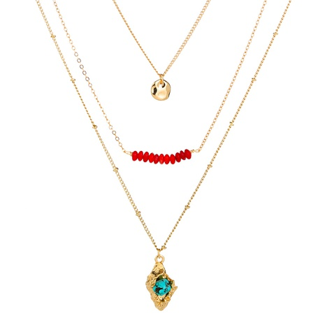 turquoise pendant multi-layer necklace NHAN320997's discount tags