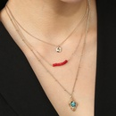 turquoise pendant multilayer necklace NHAN320997