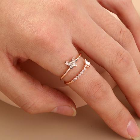 anillo abierto de mariposa de moda NHAN320996's discount tags