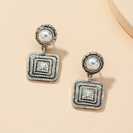 new retro pearl fashion exaggerated earrings NHGU321005's discount tags