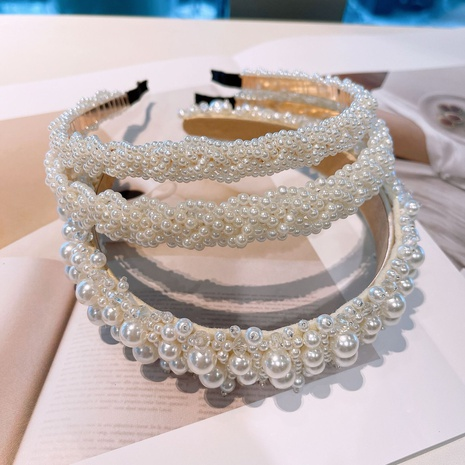 Korean retro pearl bridal headband NHHD321047's discount tags