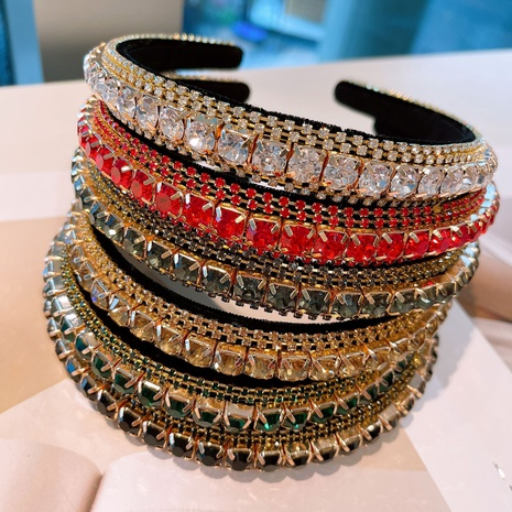 Korean classic round retro diamond headband NHHD321051's discount tags