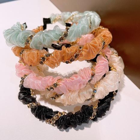Korean chain rhinestone headband NHHD321053's discount tags