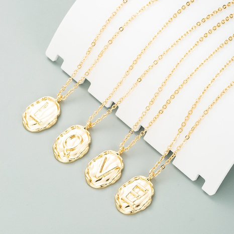 Mode einfache Legierung 26 englische Buchstaben Halskette NHLN321067's discount tags