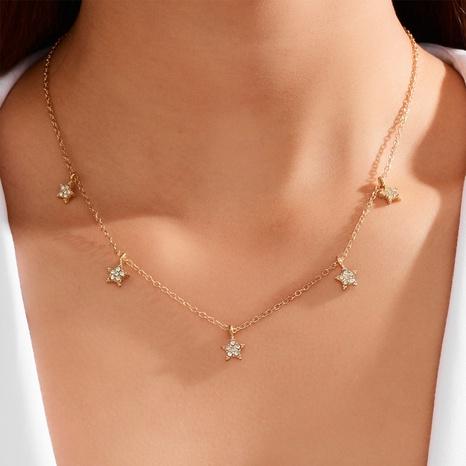 neue Mode vergoldete Stern Halskette NHOT321113's discount tags
