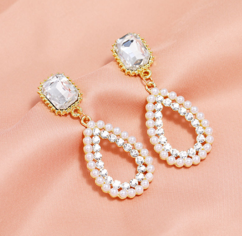 fashion simple pearl earrings NHSC320045's discount tags