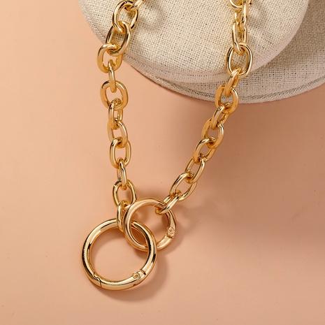 nouveau collier double cercle créatif simple punk NHAN321144's discount tags