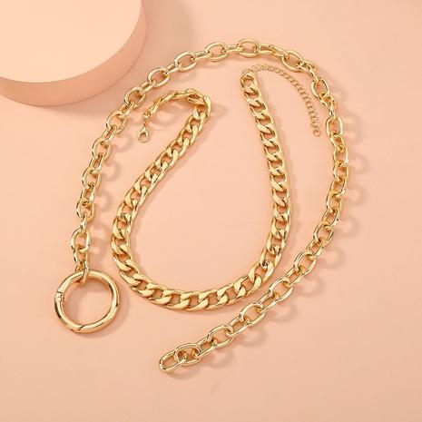 collier double couche exagéré à la mode simple NHAN321146's discount tags
