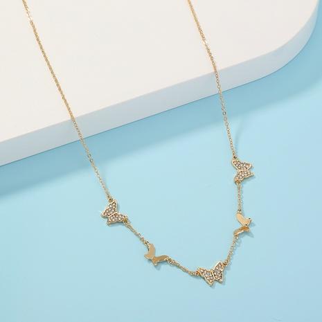 collar de una sola capa con borla de mariposa simple NHAN321150's discount tags