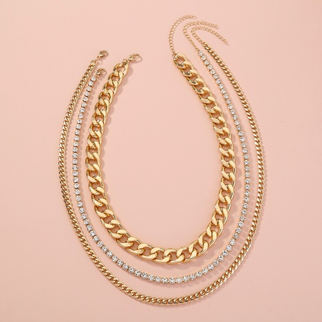 fashion exaggerated simple multilayer necklace NHAN321153's discount tags