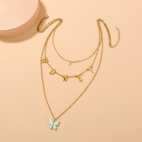 neue Mode Buchstaben mehrschichtige Quaste Halskette NHAN321152's discount tags