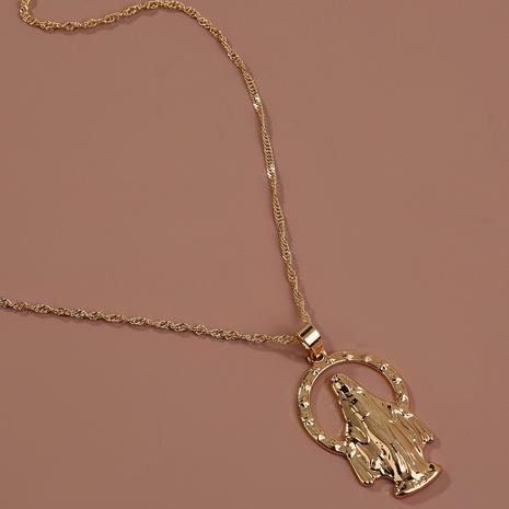collier ange en métal portrait de mode NHAN321154's discount tags