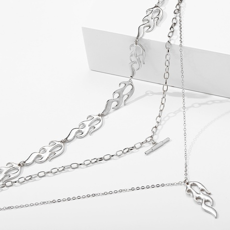nouveau collier multicouche créatif simple flamme ronde NHYI321164's discount tags