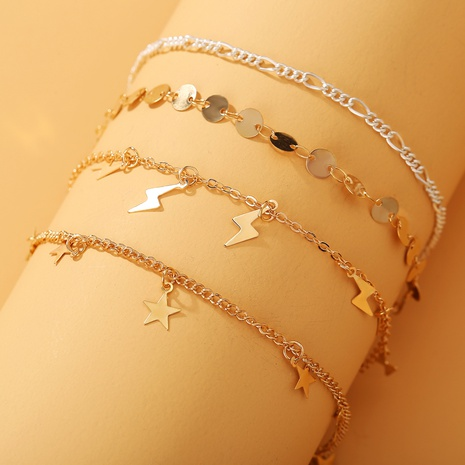 fashion lightning star sequin anklet NHYI321165's discount tags