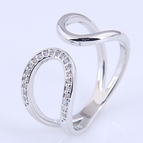 anneau ouvert de goutte d'eau simple en cuivre de mode NHSC321662's discount tags