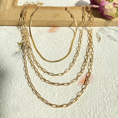 nouveau collier en alliage exagéré rétro créatif NHYI321157's discount tags