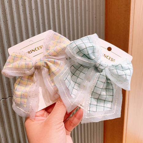 Épingle à cheveux en gaze filet simple avec cœur en treillis pour enfants NHSA321185's discount tags
