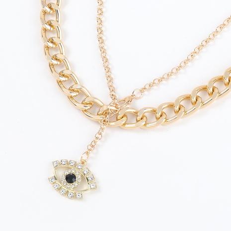 Collier pendentif oeil de diamant strass à la mode NHJE321192's discount tags
