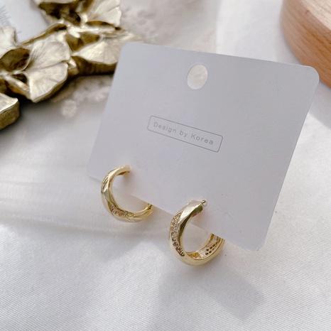 Boucles d'oreilles en alliage rétro micro-incrustées coréennes NHHI321211's discount tags