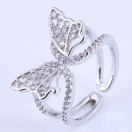 Bague ouverte papillon en cuivre de mode coréenne NHSC321658's discount tags