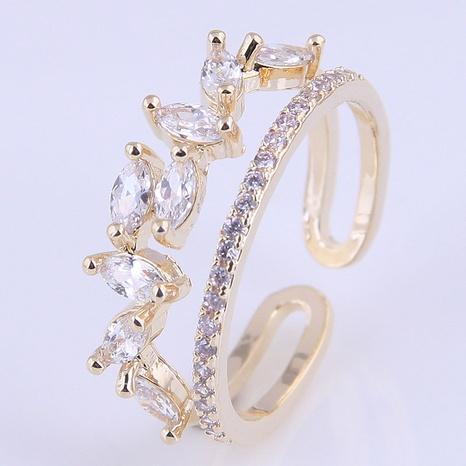 Bague ouverte en cuivre à la mode coréenne NHSC321655's discount tags