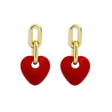 fashion metal heart earrings NHJQ321275's discount tags