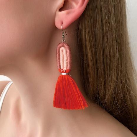 bohemian style multicolor tassel earrings  NHMD321286's discount tags