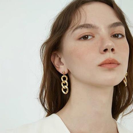 retro simple metal earrings wholesale NHAQ321303's discount tags