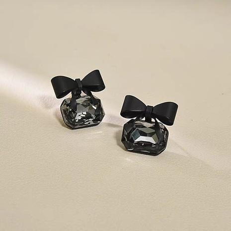 Boucles d'oreilles en strass bowknot simples coréennes NHAQ321307's discount tags