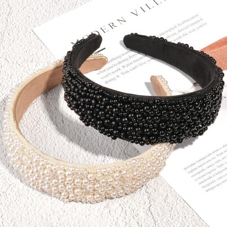 Mode Perlen Flanell breitkrempige Haarband NHAQ321321's discount tags