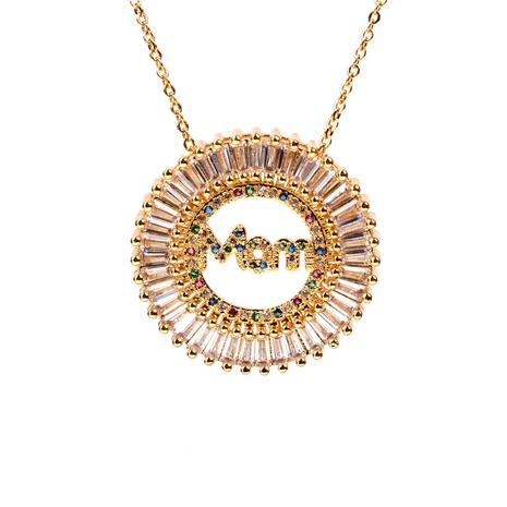 letters MOM zircon necklace NHPY321328's discount tags